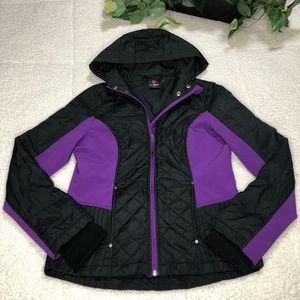 Hawke & Co Purple/Black Sport Hoodie Jacket Sz M
